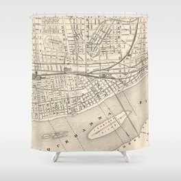 Vintage Map of Harrisburg PA (1877) Shower Curtain