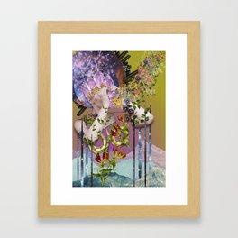Cosmic - collage art by bedelgeuse Framed Art Print