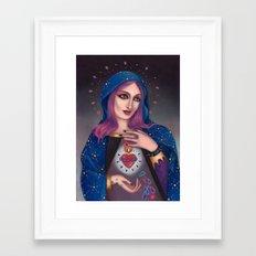 Blessed Mary Framed Art Print