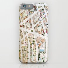 Greenwich Village Map by Harlem Sketches iPhone 6s Slim Case