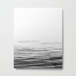 Sea print, Ocean, Water, Scandinavian, Minimalist, Modern, Wall Art Metal Print
