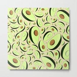 Avocados :) (soft brown) Metal Print
