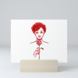 Rose Red Mini Art Print