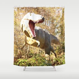 Dino's Dinner Time! Shower Curtain