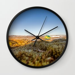 Iceland middle of nowhere Wall Clock