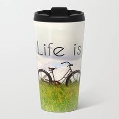 Life is Good Metal Travel Mug