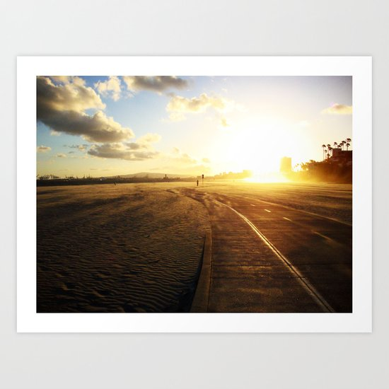 Run into the Sunset Art Print