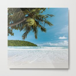 Tropical Palm Beach Metal Print