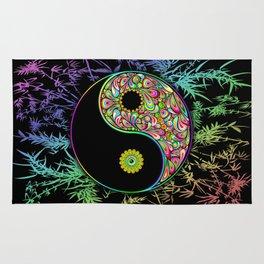 Yin Yang Bamboo Psychedelic Rug