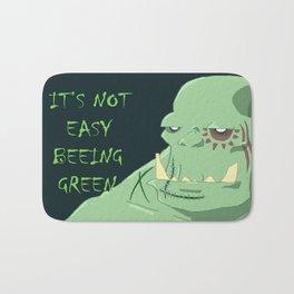 It's Not Easy Beeing Green Bath Mat