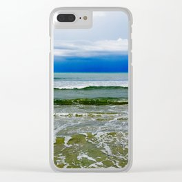 Green tides Clear iPhone Case