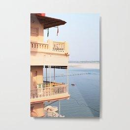 394. House on the Ganges, Varanasi, India Metal Print