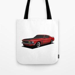Mustang Boss Red Tote Bag
