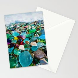 Kauai's Glass Beach, Hawaiian Portrait Stationery Cards