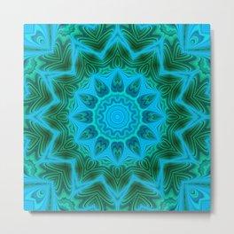 Green blue kaleidoscope 2 Metal Print
