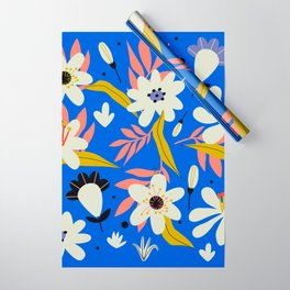 Retro garden flowering elements Wrapping Paper