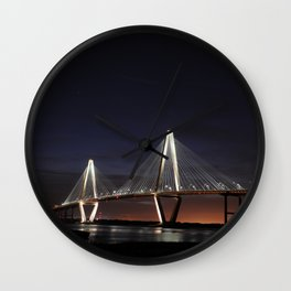 Ravenel Bridge Charleston Wall Clock