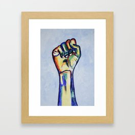 LGBTQ Resist Fist, LGBT artwork, resist artwork Framed Art Print