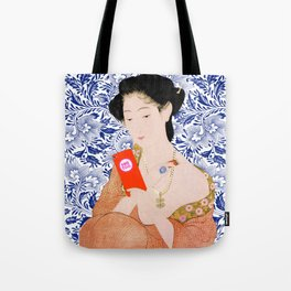 confused timeline with japanese lady Tote Bag