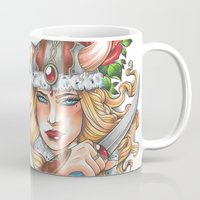 viking Mugs featuring Viking by Little Lost Forest