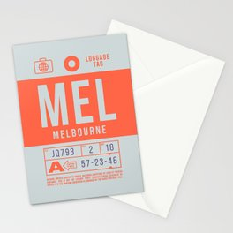 Baggage Tag B - MEL Melbourne Tullamarine Australia Stationery Cards