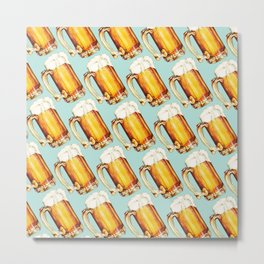 Beer Pattern Metal Print