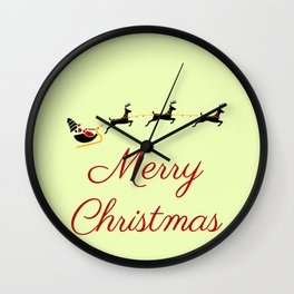 The Christmas Theme I Wall Clock