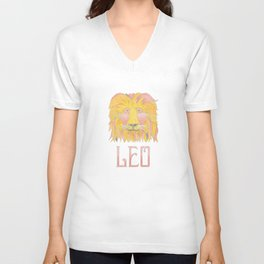 Leo - fire sign Unisex V-Neck