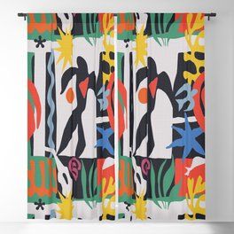 inspired to Matisse (black) Blackout Curtain