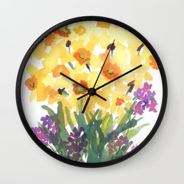 Spring Daffodil Patch Wall Clock