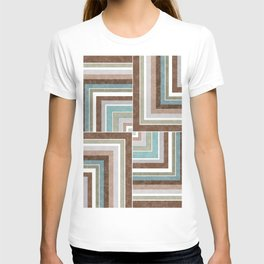 3 marble combination patchwork T-shirt