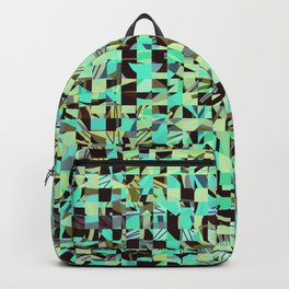 WILD THING GEO PATTERN BLUE GREEN Backpack