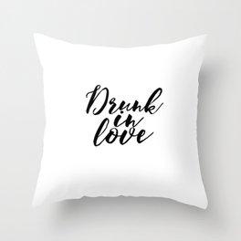 Engagement Gift Anniversary Gift Wedding Gift PRINTABLE ART Drunk In Love Lyrics Wall Art Song Lyric Throw Pillow