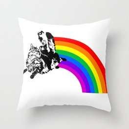 Catrider Throw Pillow