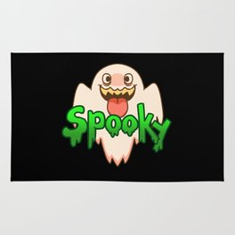 Spooky Ghost (Red) Rug