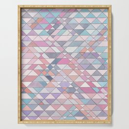 Triangle Pattern no.25 Light Pink Serving Tray