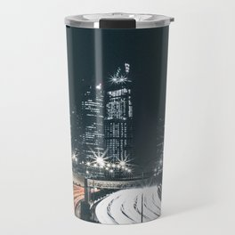 Night city long exposure Travel Mug