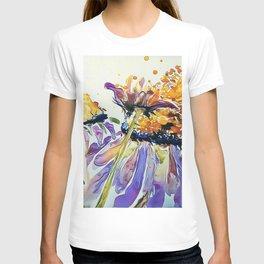 Poppin Purple Echinacea watercolor by CheyAnne Sexton T-shirt