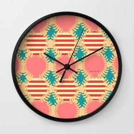 LAUREL WREATH PATTERN Wall Clock