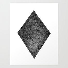 Graphite Diamond Art Print