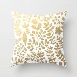 Botanica - gold Throw Pillow