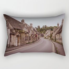 little quiet village Rectangular Pillow