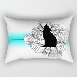 Simple Wolf Rectangular Pillow
