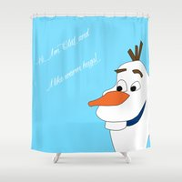 olaf Shower Curtains featuring Olaf by Dewdroplet