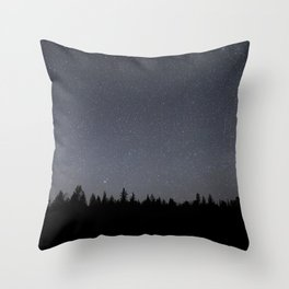 night sky in northern michigan  Throw Pillow