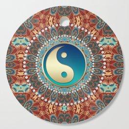 Bohemian Batik Yin Yang Cutting Board
