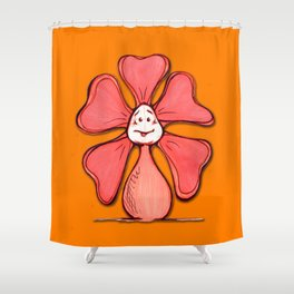 """Orange"" Color Chakra Flowerkid Shower Curtain"