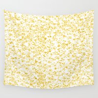 splatter Wall Tapestries featuring Gold Splatter by Justbyjulie