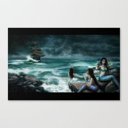 Sirens on the Rocks Canvas Print