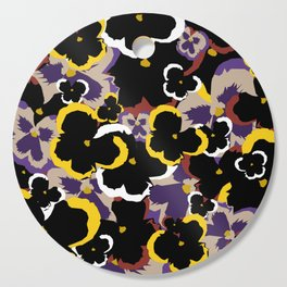 Pansy Love Cutting Board